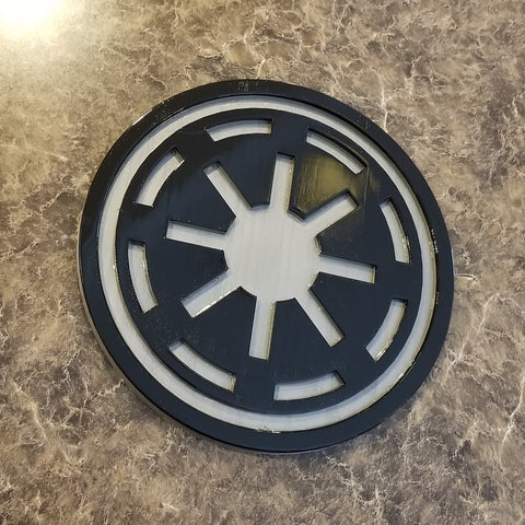 Sw Galactic Republic Symbol Logo Sign Plaque Inspired Replica