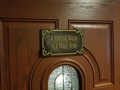 Personalized Message Haunted Mansion Inspired Prop Sign / Plaque Replica