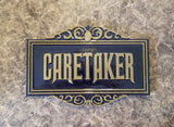 Haunted Mansion Inspired Prop Sign / Plaque Replica Caretaker ( Disney Home Decor Theme Park Inspired Replica )