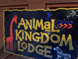 Animal Kingdom Lodge Plaque Inspired Sign - Replica ( Disney World Home Decor Inspired Prop )