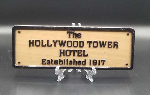 Hollywood Tower Hotel Inspired Replica Established Plaque / Sign - ( Disney Home Decor Prop Inspired Replica )