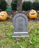 Personalized Haunted Mansion / Halloween Inspired Tombstone Prop Replica (Disney Prop Inspired Replica)