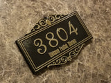 Personalized Haunted Mansion Themed Address Plaque w/ Welcome Foolish Mortals