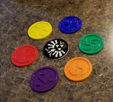 Ocarina of Time Themed Temple Medallion + Hyrule Crest Coaster Set - 7 total