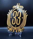 Club 33 Inspired Sign / Plaque ( Disney Prop Inspired Replica )
