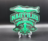 20,000 Leagues Under The Sea Former Disney Ride Inspired Sign / Plaque - Green / Black