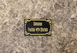 Haunted Mansion Welcome Foolish Mortals Inspired Car & Fridge Magnet ( Disney / Park Prop Inspired Replica )