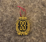 Club 33 Plaque DW Inspired Sign Christmas Ornament ( Disney / Park Prop Inspired Replica )