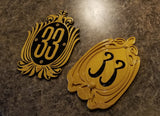 New and Old Club 33 Inspired Sign / Plaque Bundle Set (Disney Prop Inspired Replica)