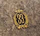 Club 33 Inspired Car & Fridge Magnet ( Disney / Park Prop Inspired Replica )