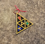 Zelda Ocarina of Time Spiritual Stones Inspired Christmas Ornament Prop Replica