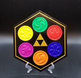 Legend of Zelda Sage Medallions Inspired Plaque - Zelda Ocarina of Time Home Decor