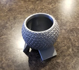 Disney World Epcot Spaceship Earth Inspired Planter - Garden Disney Decor Plant Pot