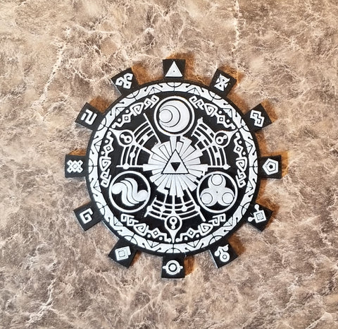Glow in the Dark Legend of Zelda Skyward Sword Gate of Time Inspired Coaster Set