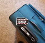 Personalized Disney Monorail Inspired Luggage Tag - Your Name Here! ( Disney Prop Inspired Replica )