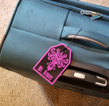 Personalized Welcome Foolish Mortal Face Inspired Luggage Tag - Your Name Here! ( Disney Haunted Mansion Prop Replica )