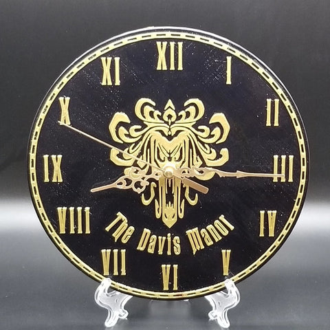 Personalized Haunted Mansion Welcome Foolish Mortals Inspired Wall Clock ( Disney Prop Inspired Replica )