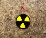 Nuclear Radioactive Symbol Inspired Christmas Ornament ( Science Christmas Prop )