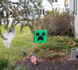 MineCraft Creeper Inspired Christmas Ornament Prop Replica
