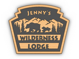 Personalized Disney World Fort Wilderness and Wilderness Lodge Inspired Sign / Plaque  ( Disney Prop Inspired Replica )