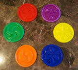 Ocarina of Time Themed Temple Medallion Coaster Set - 6 total