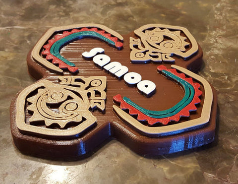 Polynesian Themed Samoa Longhouse Sign / Plaque