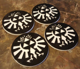 Hyrule Crest Inspired Coaster Set - 4 total