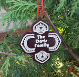 Personalized Polynesian Themed Christmas Ornament - Single Ornament