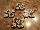 Personalized Polynesian Themed Christmas Ornament - Set of 4