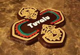 Polynesian Themed Tiki Longhouse Sign / Plaque - Tuvalu House