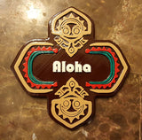 Polynesian Themed Tiki Aloha Sign / Plaque