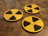 Duke Nukem Inspired Nuclear Symbol Coaster Set - 3 total