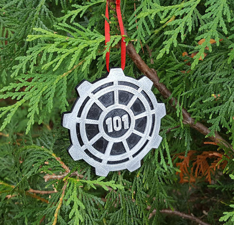 Vault Door Themed Christmas Ornament
