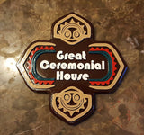 XL Polynesian Themed Sign - Great Ceremonial House (Custom / Personalized Lettering Available)