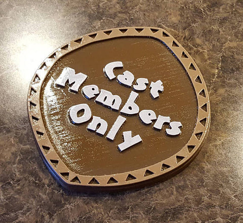 Circular Polynesian Themed Cast Members Only Sign / Plaque ( Disney Inspired Home Decor' )