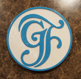 Grand Floridian Inspired Plaque / Sign - Dual White / Teal Color