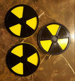 Nuclear Radioactive 3D Symbol Coaster - Set of 3