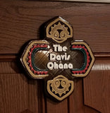Personalized Polynesian Themed Family Last Name Ohana Sign / Plaque ( Disney Tiki Polynesia Resort / Park Prop Inspired Replica )