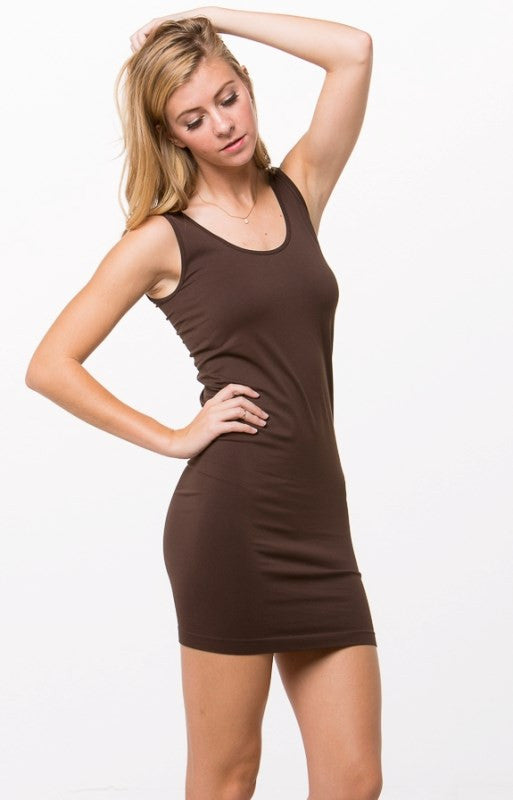 One Size Seamless Layering Thick Strap Tank