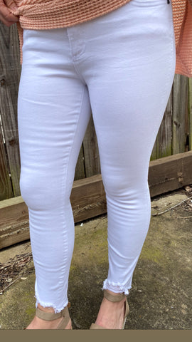 White Jegging