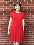 PIKO swing style dress.. RED