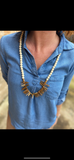 Shark tooth gold necklace
