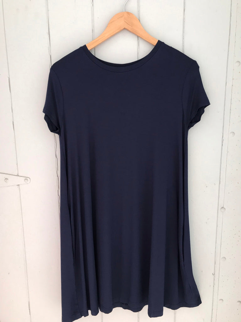 PIKO swing style dress.. Navy