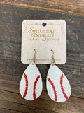 Teardrop shape Baseball earring
