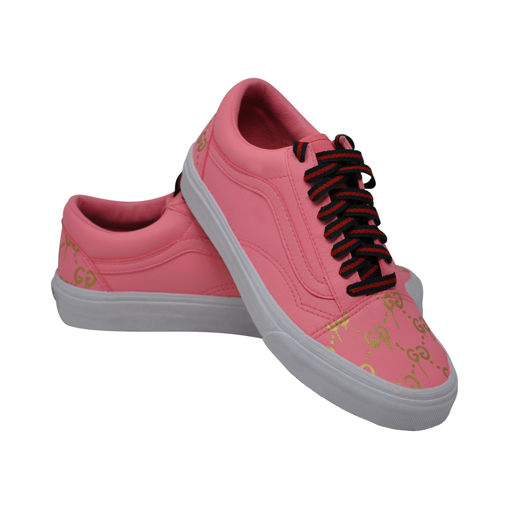 "Vans Old Skool Leather ""Rosey"" Size 6.5 - GUCCI Pack"