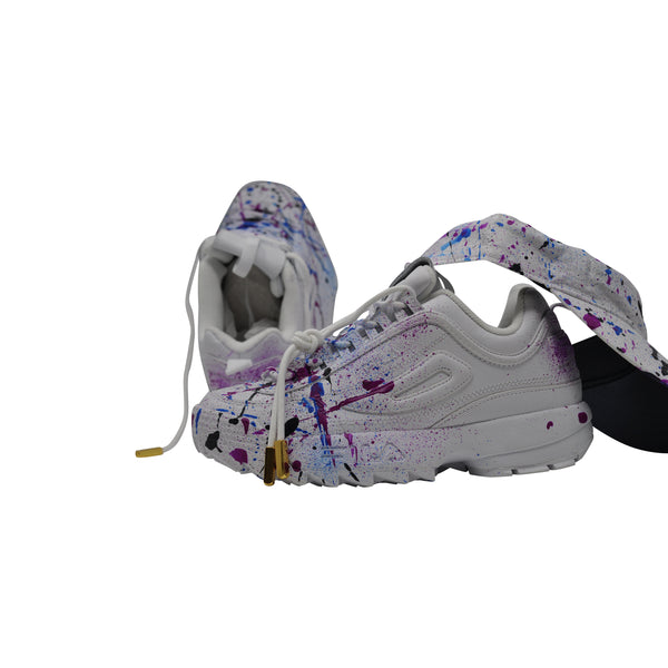 "FILA Disruptor II ""Wildberry"" Size 8 womens - Splash Pack w/ Visor"