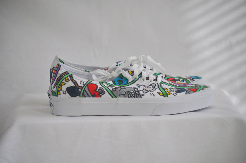 "Vans Authentic Reedom x Canvas ""Style #001"" Size 8"