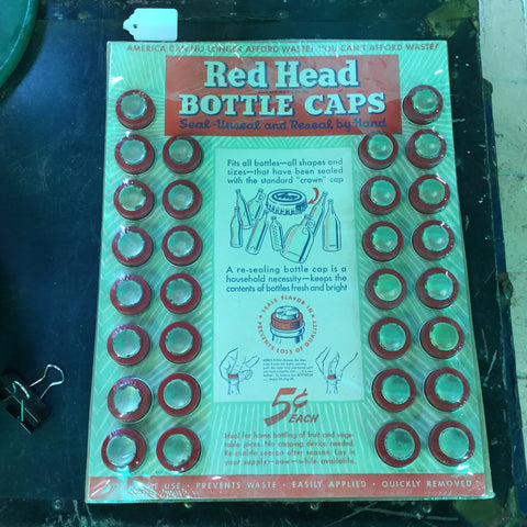 Red Top Bottle Cap Store Display