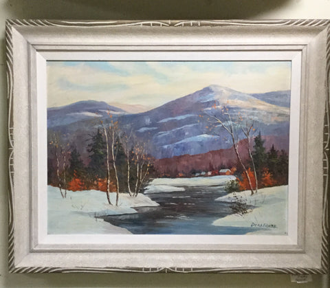Winter Mountainscape Oil Painting