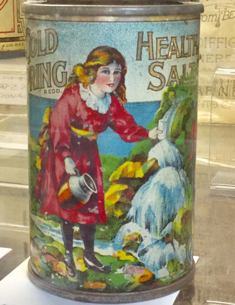 C. 1900 Cold Spring Health Salts Tin